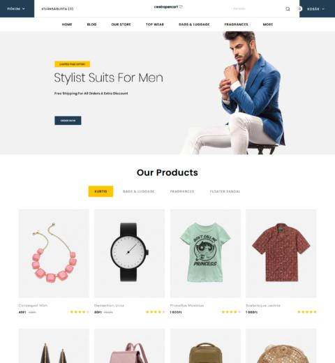 Divat, ruha OpenCart webáruház