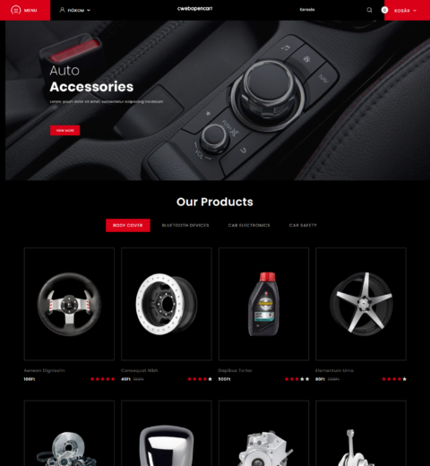 autó webshop