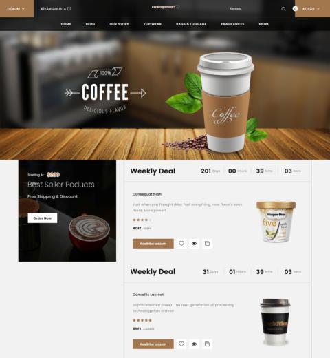 cofee webáruház
